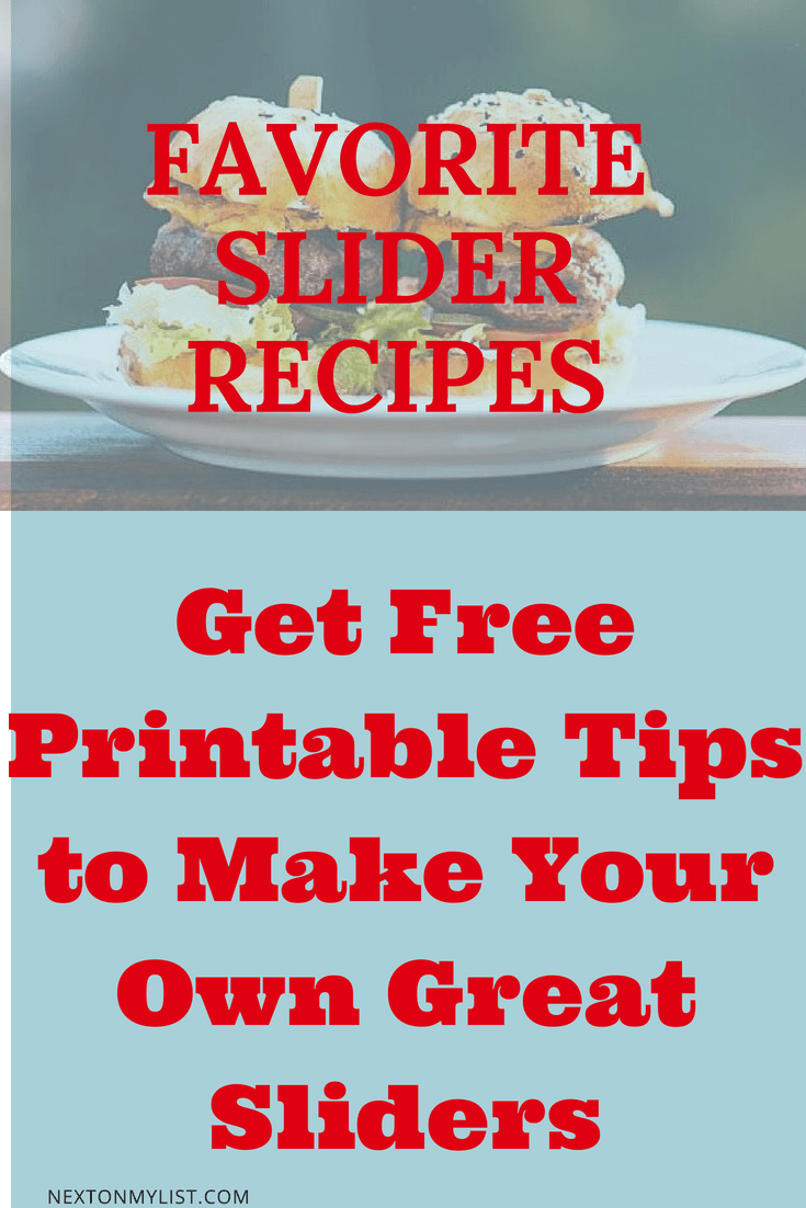 Copy of FAVORITE SLIDER RECIPES