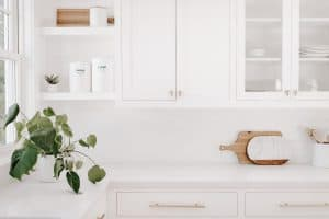 white decluttered kitchen