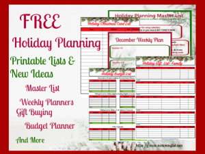 holiday list planning guide