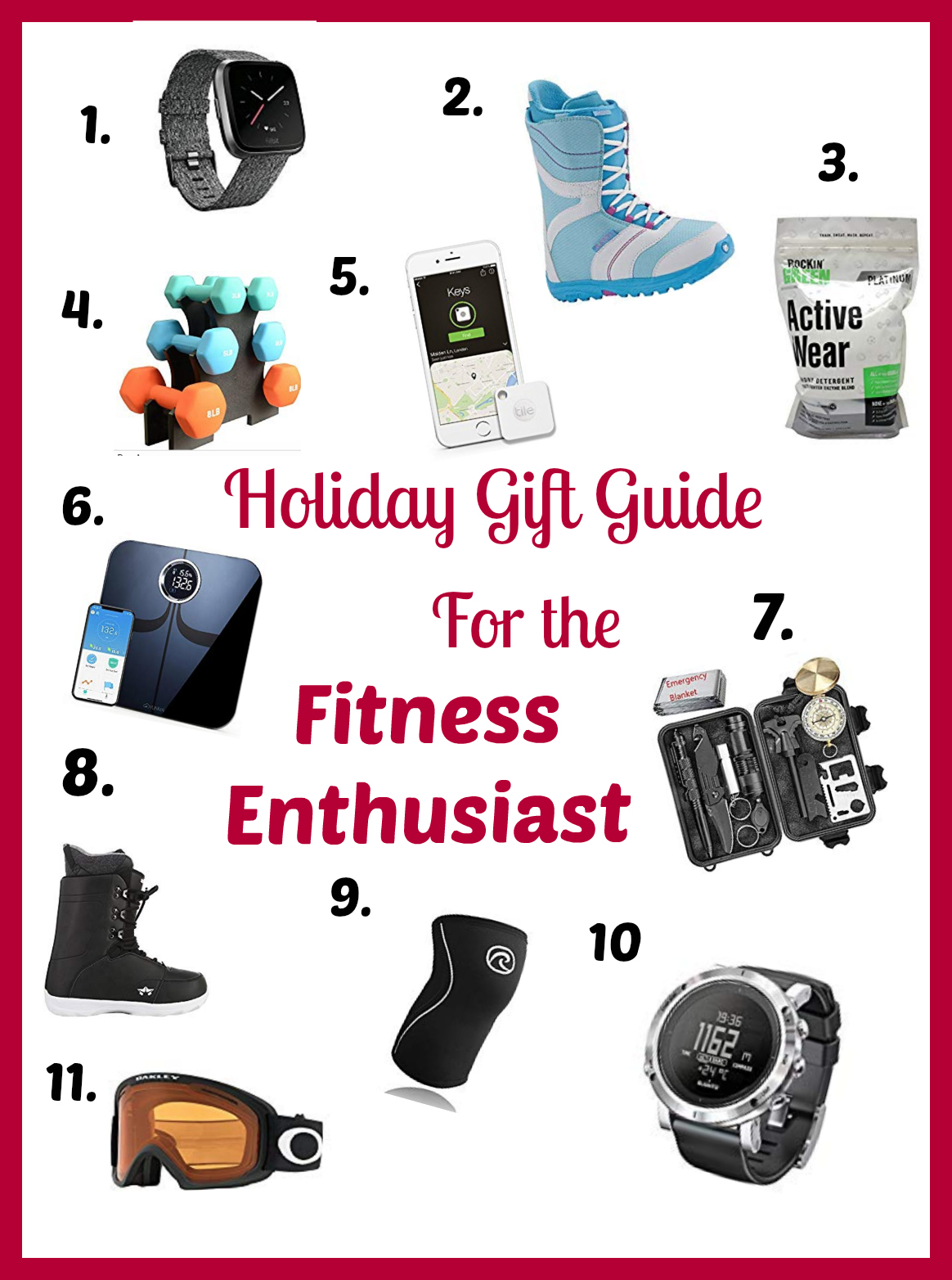 Fitness holiday Gift List