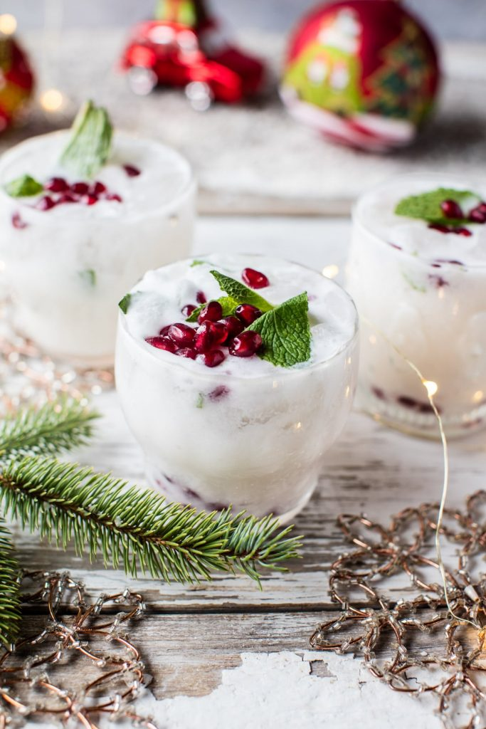 Holiday Cocktail white christmas