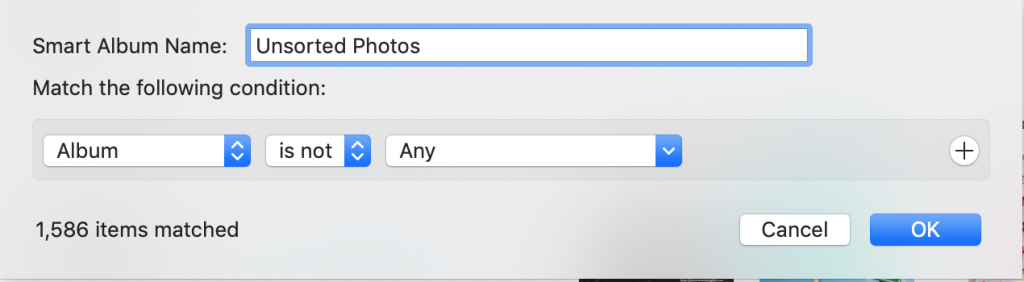 sort unsorted photos on iphoto