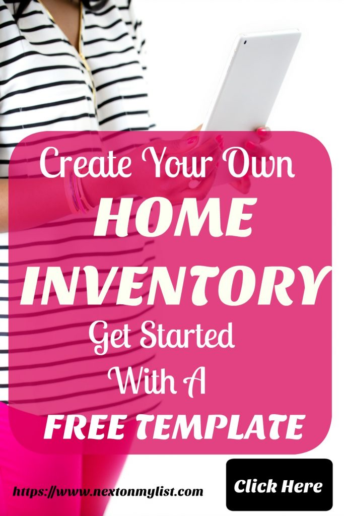 Creating Home Inventory
