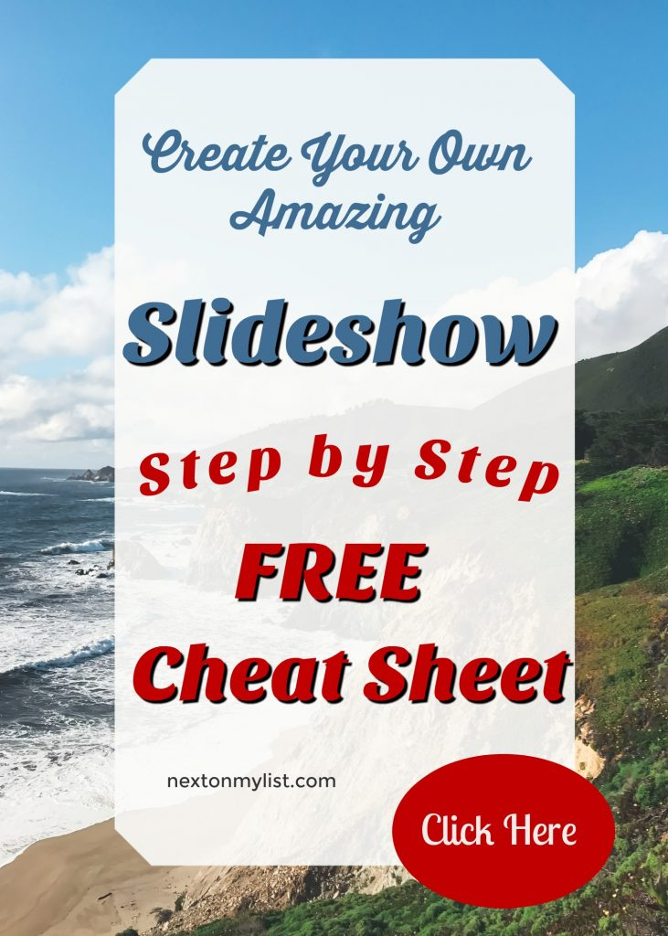 slideshow cheat sheet