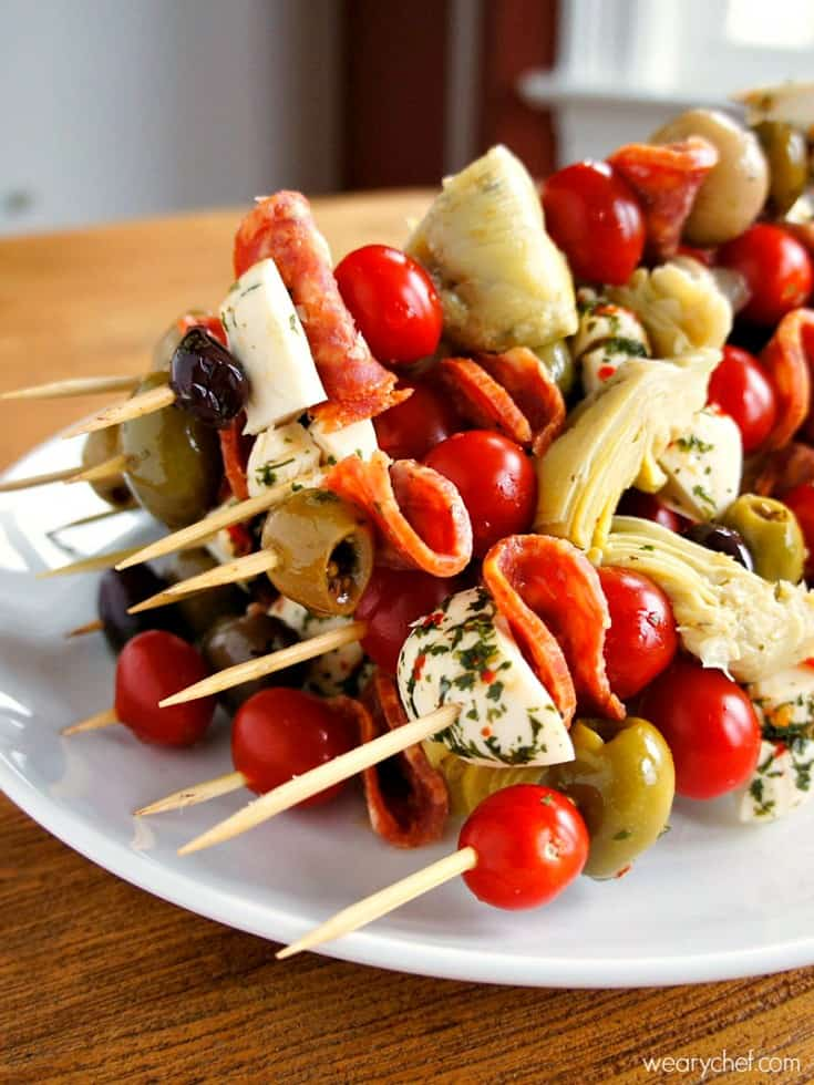 Antipasto Skewers: An Easy Party Food!