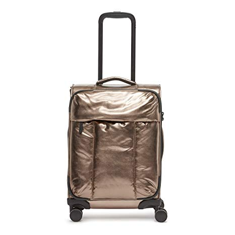 CALPAK Luka Carry-On Luggage Metallic Bronze Softside Spinner Suitcase