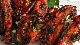Grilled Spicy Chicken Wings recipe from A Gouda Life