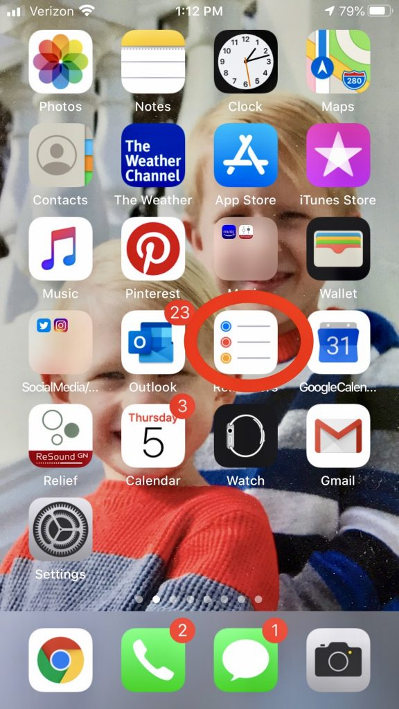apple's reminders app to be organized