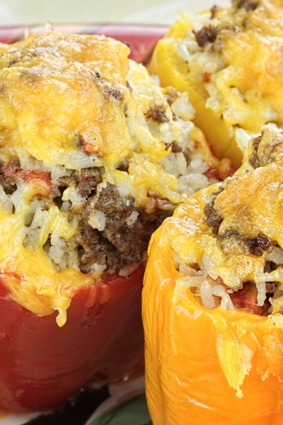 stuffed air fried peppers